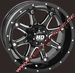 12x7 HD4 4/137 5+2 Machined gloss black
