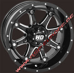 12x7 HD4 4/110 5+2 Machined gloss black